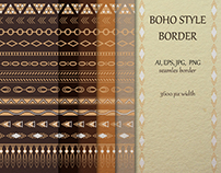 Freebie – Boho Style Tribal Border Collection