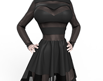 Bad Girl - Dynamic Marvelous Designer Dress