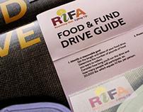 RIFA - Food Drive marketing materials