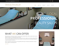Web design for BeautyBoutique Rowde
