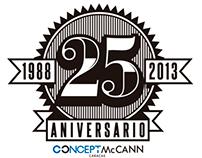 25 años de: / 25 years of Concept-McCann Caracas
