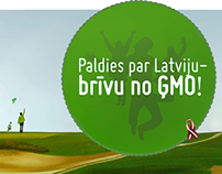 Anti GMO campaign Latvia