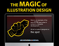 illustration magic infographic