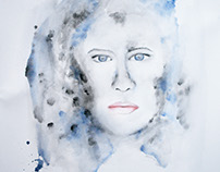 "Watercolor Painting ""Ice Woman"""