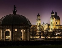 Hofgarten at Night