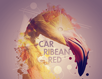 Car Ribean Red Flamingo Photomanipulation