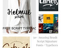 50+ Best Free Brush Script Signature Fonts For 2020