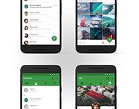WeChat Concept Redesign Done in Material Design Style