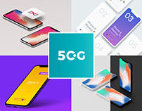 50 Newest iPhone X Mockups 2018
