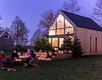 Lago Cabin House by Barn