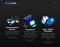 Homepage icons for tele tech company