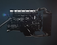 Renault Trucks // Engine animation