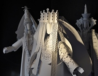Wedding gear paper sculptures