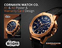 Watch Co. Poster & Warranty Card Design by Swan Media