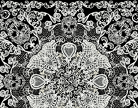 LACE SKULL SCARF