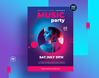 Free Flyer Psd Template - Music Party