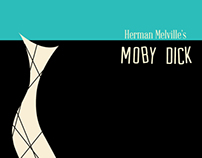 Moby Dick Bookcover in the style of Alvin Lustig