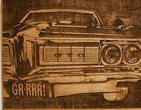 GTO Woodblock Laser Cut