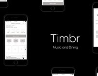 Timbr | Ideation and UX for restaurant discovery app