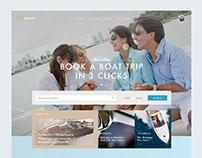 Boat.me - boating rental platform website