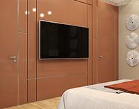 Orange Bedroom.