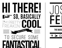 Josh Fein Creative Resume / Self Promo