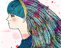 Feathered girl