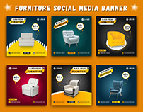 Furniture Social Media Banner Templates| Web Templates.