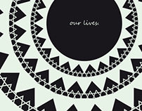 """Our Lives"" postcard"