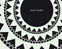"""Our Lives"" postcard"