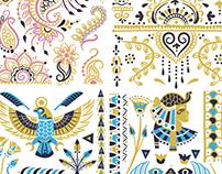 Henna Inspired Flash Tattoos