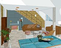 Modellbau Dachgeschoss -Modeling for attic storey