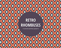 Retro Rhombuses Vector Seamless Pattern