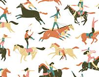 Circus Horses pattern