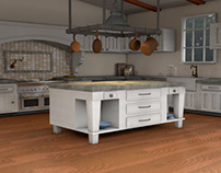 3D Country Kitchen