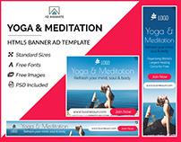 Yoga & Meditation Banner- HTML5 Ad Templates