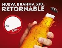 BRAHMA RETORNABLE 330 & 1L (Paraguay)