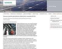 Siemens - manutenção das paginas web