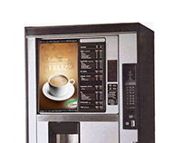 Coffee vending machine sticker