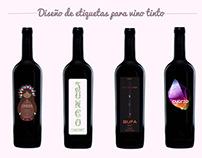etiquetas vino tinto
