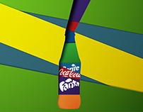 Soda fan-art illustration paper (cola fanta sprite)
