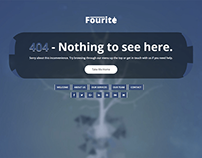 Fourite - 404 Page Responsive Bootstrap Template