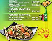 Menu for Asian Restaurant