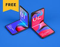 Free Galaxy Z Flip Mockup | Folding Phone
