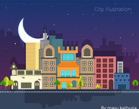 City illustration (Download free file here)