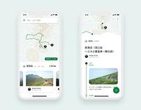 Social Trekking App Concept