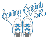 Spring Sprint 5K T-Shirt Design