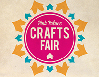 Pink Palace Crafts Fair Logo and Poster Design