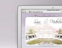 Sara & Federico            Wedding website