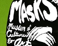 Masks Exhibition poster